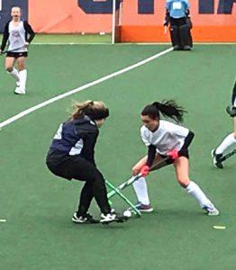girls playing on turf at Syracuse
