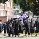 faculty processional outside Knox