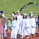 student processional on Knox track