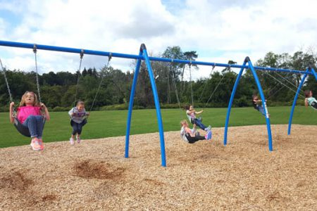 Students Enjoy Playground During Recess