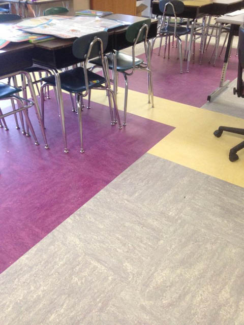 new flooring in Warren Street classroom