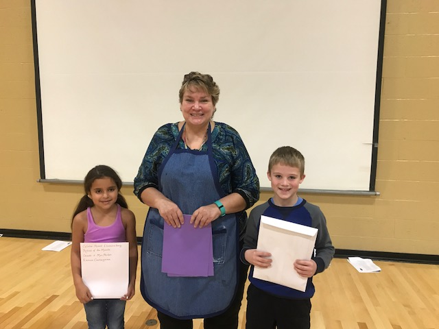 Glebe Artists of the Month with art teacher
