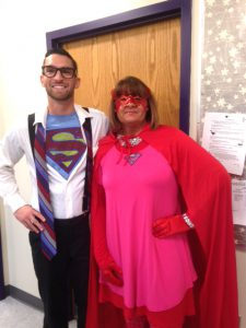 """Clark Kent"" and ""Super Woman"""