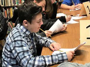 student studies written materials