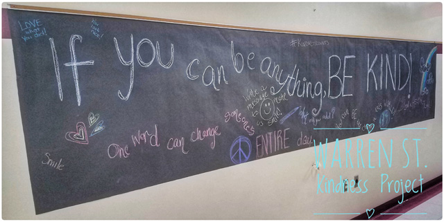 chalkboard on wall with doodling
