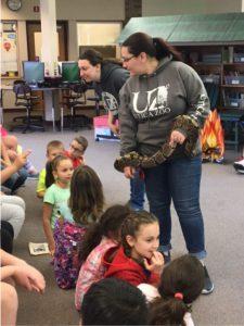 handler with snake