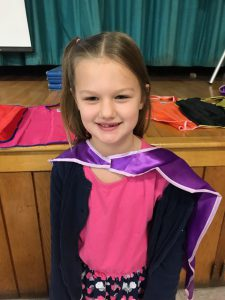 first of 11 students earning a cape