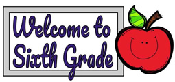 words Welcome to Sixth Grade next to a smiling apple