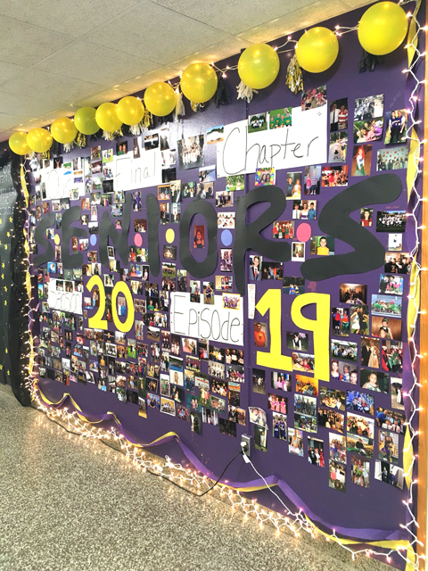 wall decorated by class of 2019
