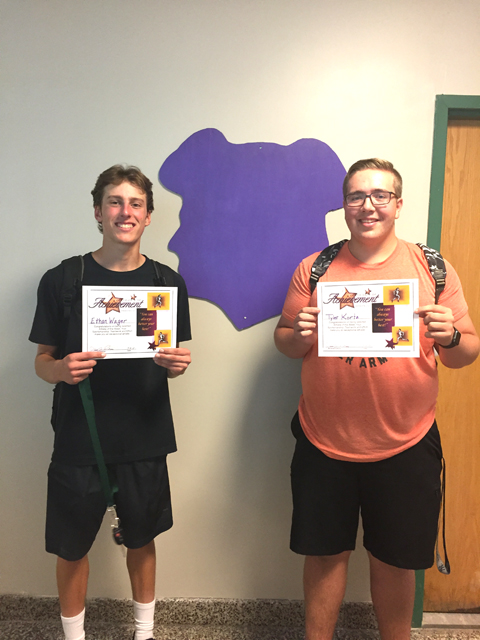 Athletes of the Week for Golf - Ethan Wager and Tyler Kortz