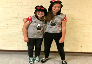 two more students dressed for twin day