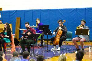 Colin Stokes, Cello; Kirk Knuffke,Cornet; Patricia Noonan, Voice; Clara Warnaar, Percussion; Christopher deProphetis, Voice; and is Vatche Jambazian, Piano.