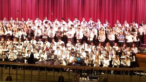 All State students performing on stage