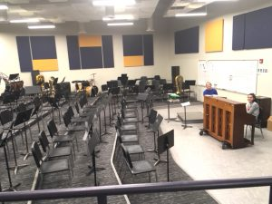 the new choral room