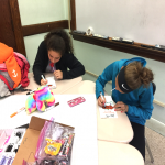 students working on crafts