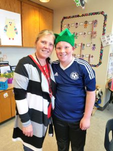 "Principal Cotter and an ""elf"""