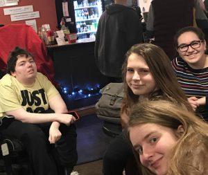 students enjoying event