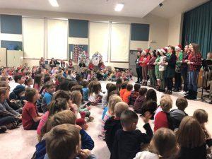 high school choir performing in Pleasant cafetorium