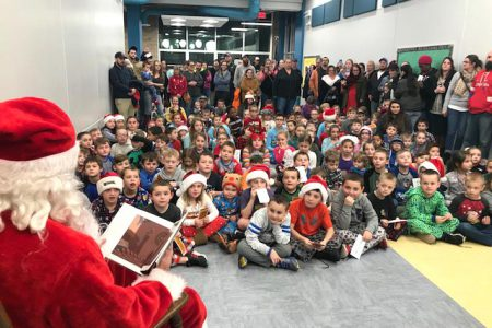 Glebe Students Enjoy Visit with Santa
