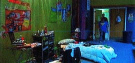 fuzzy image of teen bedroom
