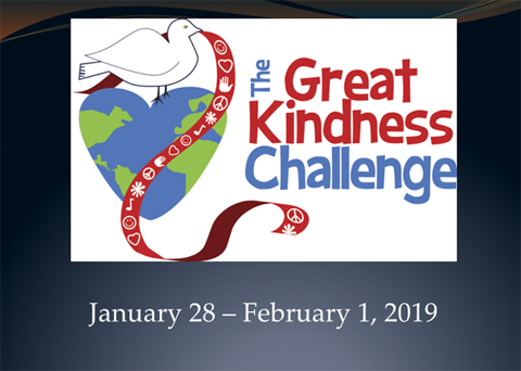 the Great Kindness Challenge January 28 - February 1