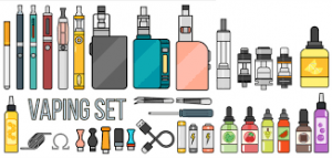 hand drawn images of vaping items