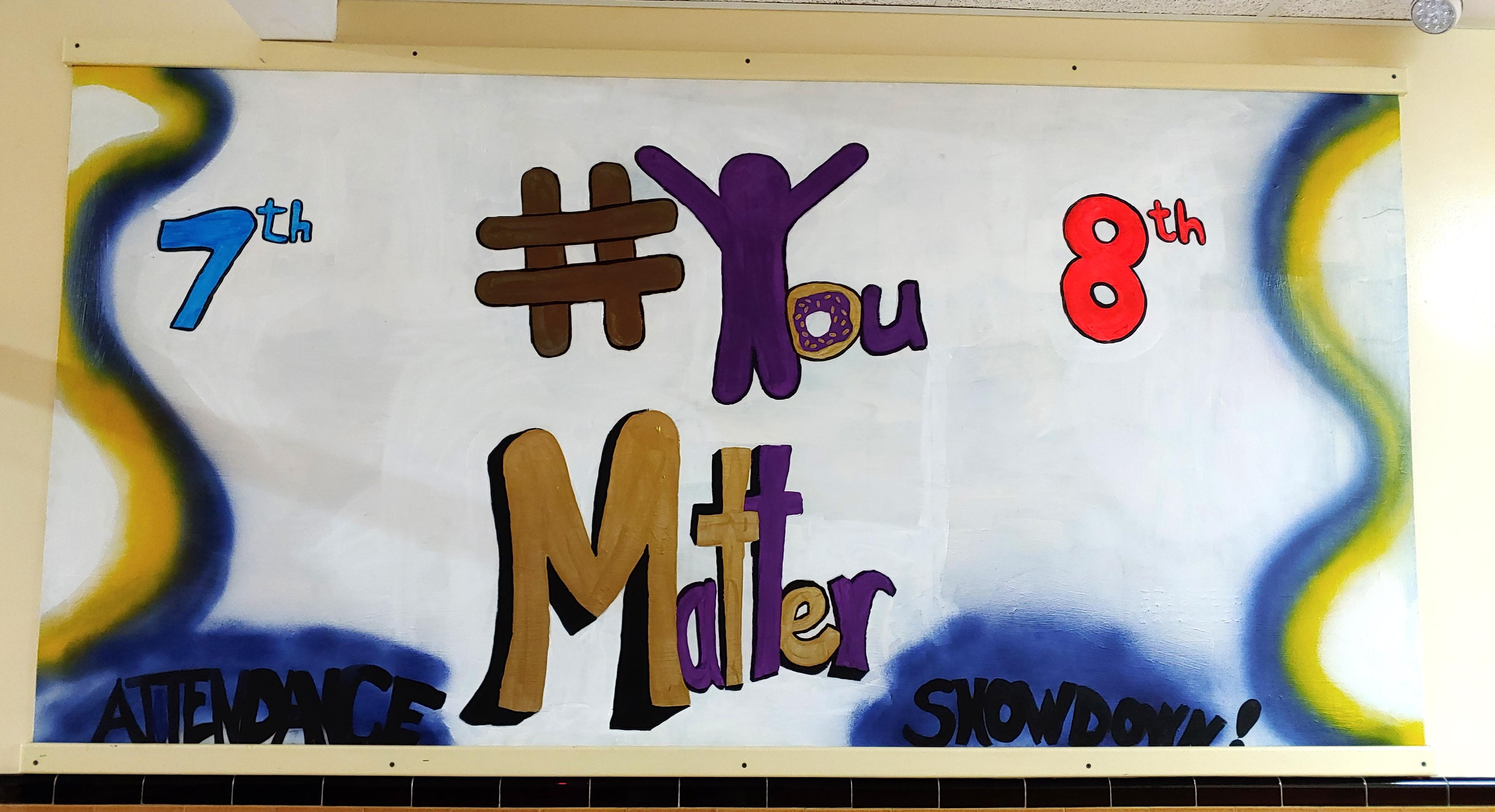 poster with words #You Matter and columns for 7th & 8th grade