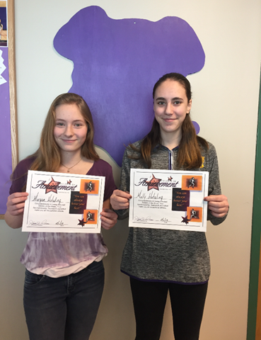 Morgan Hotaling and Molly Hotaling, holding certificates