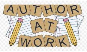 "words ""Author at Work"" with two pencils"