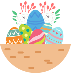 Microsoft Clip Art Easter Eggs in a Basket