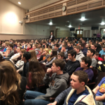 students seated in Knox auditorium