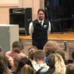 Mr. Detraglia speaks to Knox students