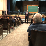 Mayor Jackson speaking in Knox Auditorium