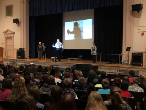 a presentation in the Knox auditorium