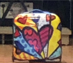 a bag with hearts on it
