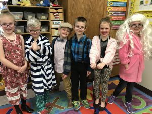 a class of students dressed up