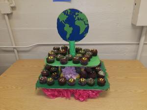 cupcake display on a table