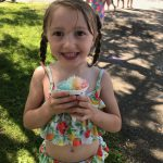 girl with a sno cone