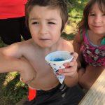 boy with sno cone