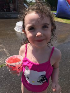another girl with a sno cone