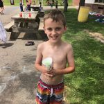 boy with a sno cone