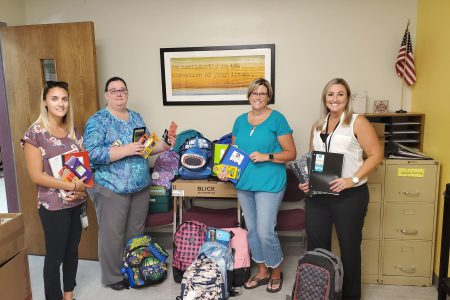 School Supplies Donated by Hale Creek