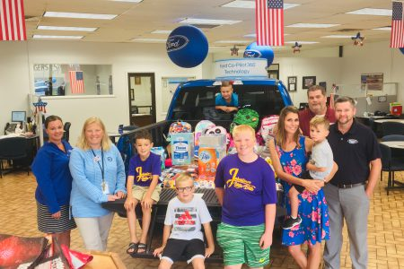 School Supplies Donated by Brown's Ford