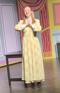 In costume as character Laura Fairlee