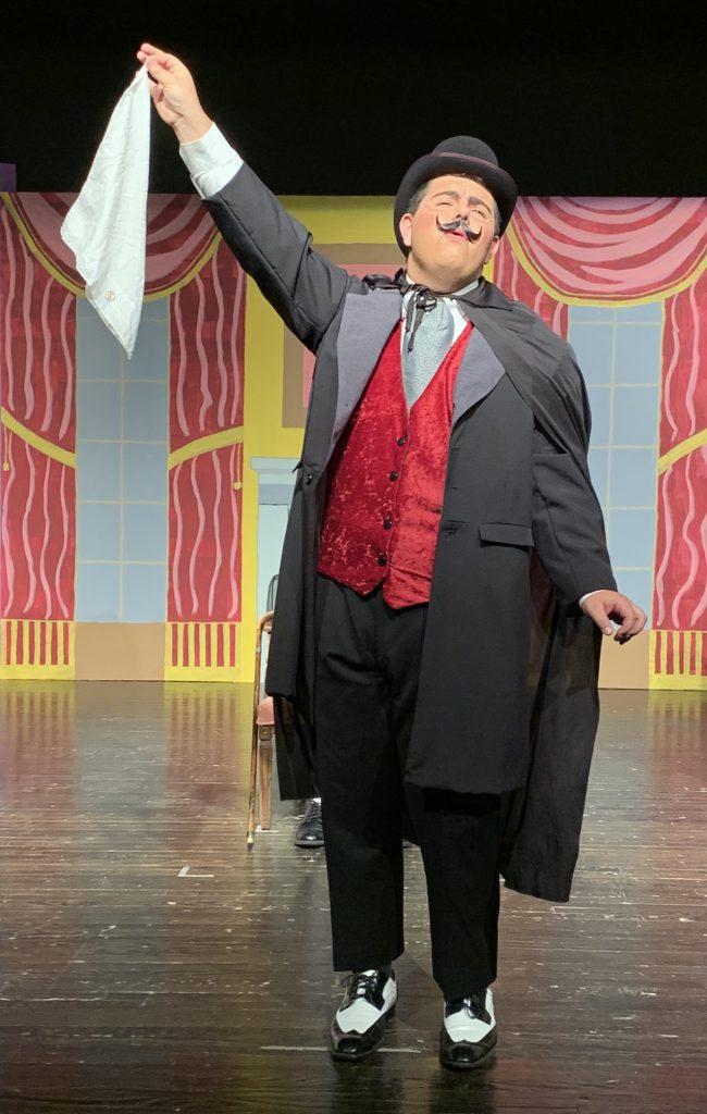 In character as Sir Percival Glyde