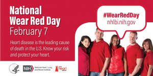National Wear Red Day Banner from American Heart Association