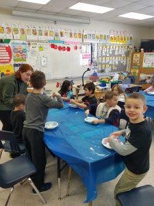 students enjoying lab creations