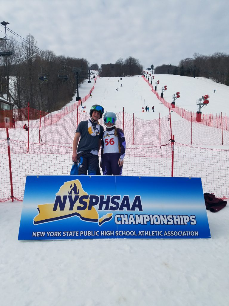 Colin and Robin on the course at the NYSPHSAA Championships