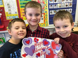 another group with heart decorations