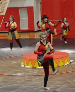 varsity guard performing